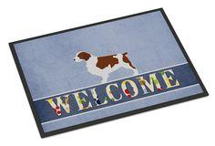Welsh Springer Spaniel Welcome Indoor or Outdoor Mat 24x36 BB5504JMAT