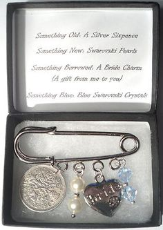 Bride Kilt Pin Something Old New Borrowed Blue Swarovski Crystals And