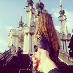 """Follow me"" - Andreevskaya church, Kiev #Ukraine (Следуй за мной, Киев)"