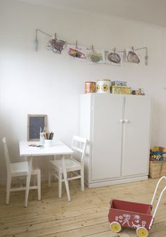 Kids room - Vintage wardrobe - Home of Mari Eriksson, Sweden - Via Milk Magazine Swedish Style, Scandinavian Style, My Home Design, Deco Design, Kid Spaces, Girls Bedroom, Home Remodeling, Decoration, Playroom