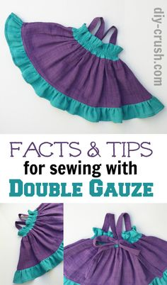 Here are my most important facts & tips for sewing with double gauze fabric. These will make your experience with this great material fun!