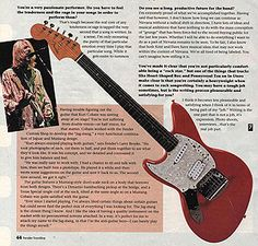 Frontline had profiled Kurt Cobain's original prototype Jag-Stang in a late 1994 article.