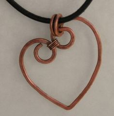 Basic tutorial on a Hammered Heart wire pendant