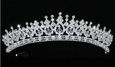 Sparkling Wedding Bridal Pageant Tiara use Swarovski Crystal in Clothing, Shoes & Accessories, Wedding & Formal Occasion, Bridal Accessories Swarovski, Flower Girl Photos, Vintage Wedding Jewelry, Crystal Crown, Sparkle Wedding, Royal Jewelry, Princess Jewelry, Bridal Tiara, Bridal Headpieces