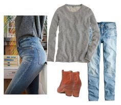 """jeans sweater"" by justvisiting ❤ liked on Polyvore"