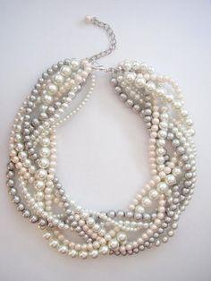 Blanc Keshi Pearl Préhnite Boucles d/'oreilles