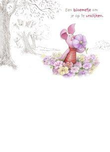 Disney kaart - knorretje-ruikt-aan-een-bloem