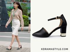 Yoon Jin-Sook (Jung Hye-Seong 정혜성) wears black heels with an ankle strap and gold chunky heel in Episode 5 of Manhole. They are the Lagrazia by Stiu Basic Sheepskin Heels 71269bk. Get them HERE for ₩80,550 Available from: WizWid – ₩80,550   See more of Yoon Jin-Sook's...