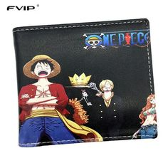 Costume Props Responsible Men Boys One Piece Luffy Wallet Monkey D Luffy Straw Hat Pirates Anime Skull Wallet Purse Black Pu Leather
