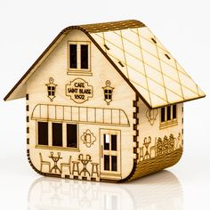 Beautiful mains and solar powered wooden light kits. Inspired by the architecture and lifestyle of the world's mountain villages and towns. Graveuse Laser, Laser Cut Wood, Laser Cutting, Cardboard Crafts, Wooden Crafts, Woodworking Jigs, Woodworking Projects, Laser Cutter Projects, Nightlights