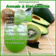 Avacado kiwi smoothy
