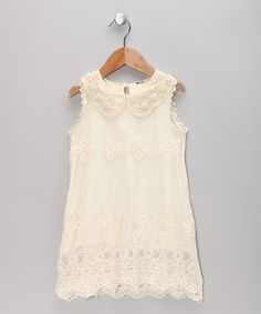 Ivory Lace Sheath Dress - Toddler & Girls | Daily deals for moms, babies and kids. Love this little dress.