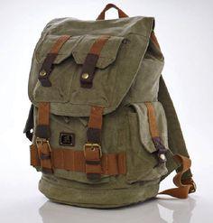 #Canvasbackpack Hiking School Heavy Duty #Rucksack Backpack #serbags