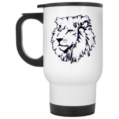 Lovingly added this new Joseph Lion Outli... for you.  What do you think? http://catrescue.myshopify.com/products/joseph-lion-outline-white-travel-mug?utm_campaign=social_autopilot&utm_source=pin&utm_medium=pin