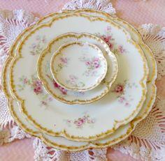 Vintage Porcelain Antique China Haviland Limoges by PucaByElphiena