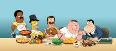 Animation+Domination+king+of+tje+hill | Cleveland, Homer, Bob, Perer and Stan celebrate Thanksgiving
