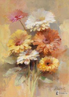 Акварельные цветы. Willem Haenraets