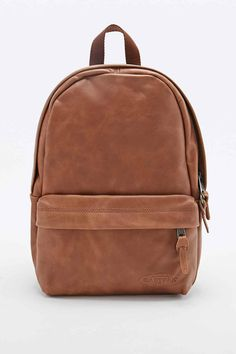 Eastpak Frick Leather Backpack in Tan