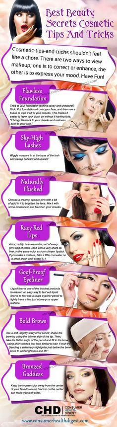 Best Beauty Secrets ; Cosmetic Tips and Tricks