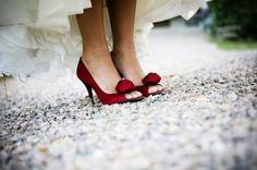 Sapatos de Noivas - Vermelho