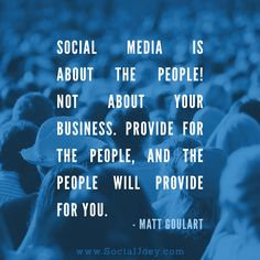Social media is all about the people.
