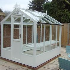 painted cedar octagonal greenhouse 586 - toughened glass, staging