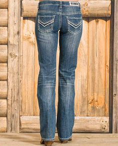 """Rock & Roll Cowgirl Women's Medium Wash Boyfriend Fit Jeans Casual Outfits for women #countrygirl #CountryFashion #countryoutfit drysdales.com #Fall2015 """"gifts for cowgirls"""" """"gifts for ladies"""" """"gifts for women"""" Fall """"casual clothing"""" for ladies #DenimFashion #denimjeans denim fashion jeans honeycomb whisker faded"""