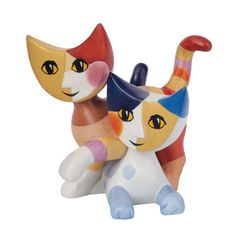Cosima e Cosimo are one of the Rosina Wachtmeister range of unusual cat figures made in porcelain.