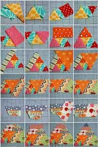60 degree triangle scrappy quilt tutorial