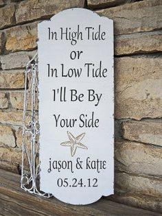 Custom Beach Wedding Sign ARROW Personalized FREE by familyattic
