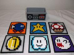 Nintendo Super Mario Set of 6 Coasters por melanieballestrazze