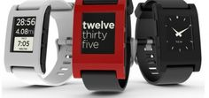 The Pebble is a slick e-paper smartwatch that connects to iPhone or Android