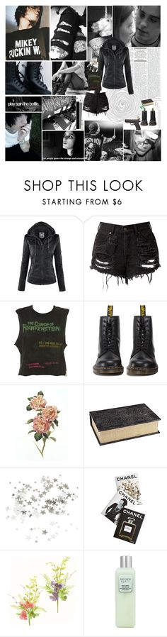 """Black and White"" by punk-and-grunge-icons ❤ liked on Polyvore featuring Dr. Martens, Pier 1 Imports, PAM, CO, Assouline Publishing, Edition and Laura Mercier"