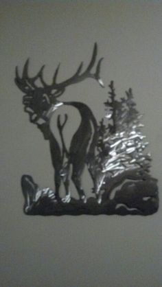 bull elk plasma cut out, metal art