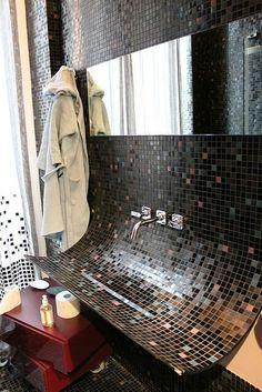 style bath room #Badezimmer, Fliesen