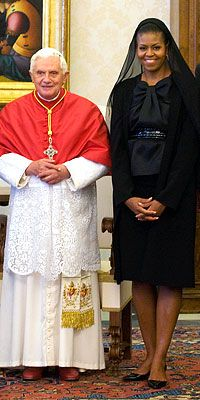Michelle Obama and the Pope