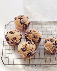 A cup of quick-cooking oats makes these moist muffins even more substantial. A touch of spicy cinnamon in the batter pairs nicely with the sweet, juicy blueberries.