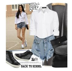 """""""Back to School"""" by ansev ❤ liked on Polyvore featuring Steffen Schraut, women's clothing, women's fashion, women, female, woman, misses, juniors and shein"""