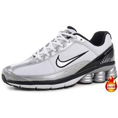 Mens Nike Shox R6 White Silver Black Lether Nike Shoes Cheap 673731be6