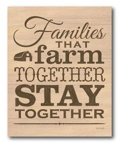 Look what I found on #zulily! 'Farm Together' Gallery-Wrapped Canvas #zulilyfinds