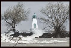 © Princess Treasures -Port Dalhousie Lighthouse during a Tornado that touched down 20 mins away