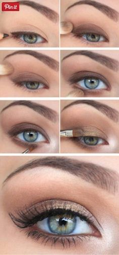 Smokey eye makeup tutorial, cat eye make up, brown eyeliner. Makeup for everyday look Smokey eye makeup tutorial, cat eye make up, brown eyeliner. Makeup for everyday look Makeup Inspo, Beauty Makeup, Makeup Trends, Makeup Kit, Makeup Tools, Cat Makeup, Gold Makeup, Clown Makeup, Makeup Artists