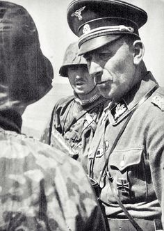 "Paul ""Papa"" Hausser, SS-Gruppenfuehrer und Generalleutnant der Waffen-SS, on the Eastern Front, undated. Hausser, a former Army officer, was the father of the Waffen SS in terms of organization and training. Highly popular among the troops, he survived the war and died in the ripe old age of 92 in 1972."