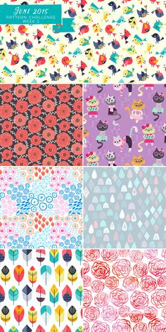 I challenged myself to create a pattern a day in June. Here is the results of week 2. via katuno.com/blog