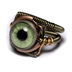 I need to make this ring (doll eye, metal button, various wire)