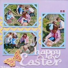 Happy Easter Layout by Wendy Kessler