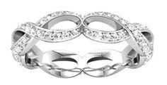14k white sculptural-inspired diamond eternity band, 3/4 cttw. Find it at a jeweler near you: www.stuller.com/locateajeweler #SculpturalBands #bestseller #anniversaryband