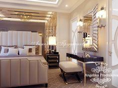 Дизайн интерьера гостевой спальнив стиле Арт Деко в Звонарском переулке. Фото 2016 - Дизайн спальни