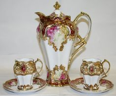 NORITAKE NIPPON PORCELAIN CHOCOLATE SET