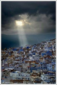 """(Chefchaouen, Morocco, """"The Blue City"""") .such a beautiful city Places Around The World, Oh The Places You'll Go, Places To Travel, Places To Visit, Around The Worlds, Wonderful Places, Beautiful Places, Paises Da Africa, North Africa"""